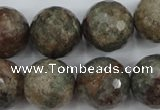 CGG18 15.5 inches 18mm faceted round ghost gemstone beads wholesale