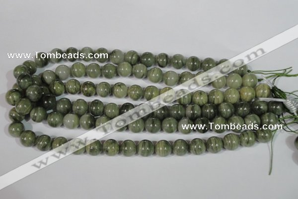 CGH05 15.5 inches 12mm round green hair stone beads wholesale