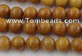 CGJ302 15.5 inches 8mm round goldstone jade beads wholesale