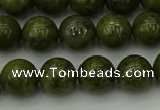 CGJ453 15.5 inches 10mm round green jasper beads wholesale