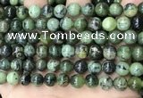 CGJ502 15.5 inches 8mm round green jade beads wholesale
