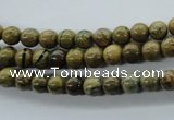 CGJ61 15.5 inches 6mm round green line jasper beads wholesale