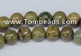 CGJ62 15.5 inches 8mm round green line jasper beads wholesale