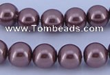 CGL130 5PCS 16 inches 20mm round dyed plastic pearl beads wholesale