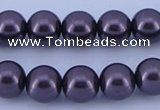 CGL138 5PCS 16 inches 16mm round dyed glass pearl beads wholesale