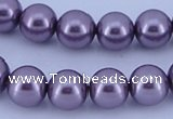 CGL150 5PCS 16 inches 20mm round dyed plastic pearl beads wholesale