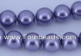 CGL152 10PCS 16 inches 4mm round dyed glass pearl beads wholesale