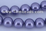 CGL157 5PCS 16 inches 14mm round dyed glass pearl beads wholesale