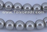 CGL172 10PCS 16 inches 4mm round dyed glass pearl beads wholesale
