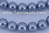 CGL182 10PCS 16 inches 4mm round dyed glass pearl beads wholesale