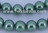 CGL228 5PCS 16 inches 16mm round dyed glass pearl beads wholesale