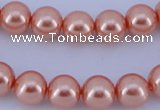 CGL295 5PCS 16 inches 10mm round dyed glass pearl beads wholesale