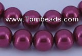 CGL315 5PCS 16 inches 10mm round dyed glass pearl beads wholesale