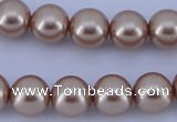 CGL354 10PCS 16 inches 8mm round dyed glass pearl beads wholesale