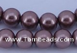 CGL397 5PCS 16 inches 14mm round dyed glass pearl beads wholesale