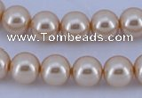 CGL43 10PCS 16 inches 6mm round dyed glass pearl beads wholesale