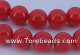 CGL842 10PCS 16 inches 4mm round heated glass pearl beads wholesale
