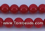 CGL852 5PCS 16 inches 12mm round heated glass pearl beads wholesale