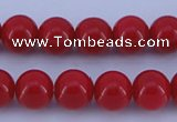 CGL853 5PCS 16 inches 14mm round heated glass pearl beads wholesale