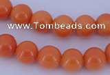 CGL866 10PCS 16 inches 4mm round heated glass pearl beads wholesale