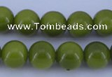 CGL873 10PCS 16 inches 6mm round heated glass pearl beads wholesale
