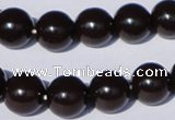 CGL901 5PCS 16 inches 14mm round heated glass pearl beads wholesale