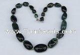 CGN44 18.5 inches 9*10mm � 20*30mm nuggets moss agate gemstone necklaces