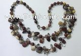 CGN531 19.5 inches chinese crystal & mookaite beaded necklaces