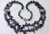 CGN538 27 inches fashion amethyst gemstone beaded necklaces