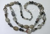 CGN548 23.5 inches striped agate gemstone beaded necklaces