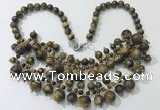 CGN565 19.5 inches stylish 4mm - 12mm yellow tiger eye beaded necklaces