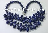 CGN566 19.5 inches stylish 4mm - 12mm lapis lazuli beaded necklaces