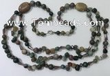 CGN685 23.5 inches chinese crystal & Indian agate beaded necklaces