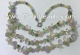 CGN698 22.5 inches chinese crystal & mixed gemstone beaded necklaces
