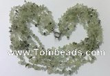 CGN722 19.5 inches stylish 6 rows prehnite chips necklaces