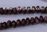 CGO71 15.5 inches 5*8mm rondelle gold red color stone beads