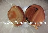 CGP2012 30*50mm - 50*80mm freeform agate slab pendants wholesale