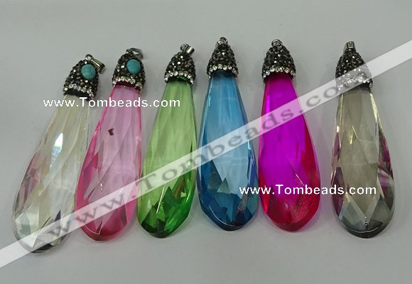 Cgp239 2080mm faceted teardrop crystal glass pendants wholesale aloadofball Choice Image
