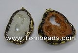CGP3118 45*65mm - 55*70mm freeform druzy agate pendants