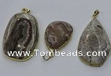 CGP3428 25*40mm - 35*55mm freeform crazy lace agate pendants