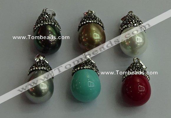 Cgp464 1525mm 1530mm teardrop pearl shell pendants wholesale aloadofball Image collections
