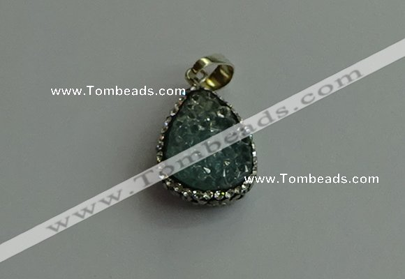 CGP472 15*20mm teardrop crystal glass pendants wholesale