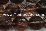 CGQ38 15.5 inches 20mm faceted round red gold sand quartz beads