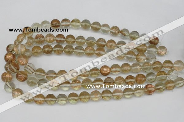 CGQ51 15.5 inches 6mm round gold sand quartz beads wholesale