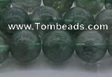 CGQ514 15.5 inches 12mm round matte imitation green phantom quartz beads