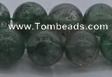 CGQ516 15.5 inches 16mm round matte imitation green phantom quartz beads