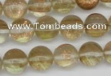 CGQ53 15.5 inches 12mm round gold sand quartz beads wholesale