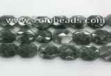 CGQ530 18*22mm - 18*25mm faceted octagonal green phantom quartz beads