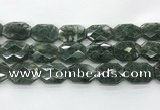 CGQ531 22*30mm - 24*32mm faceted octagonal green phantom quartz beads
