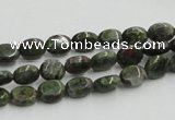 CGR10 16 inches 6*8mm oval green rain forest stone beads wholesale